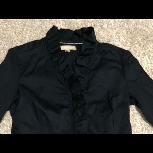 Banana republic women's black ruffle shirt